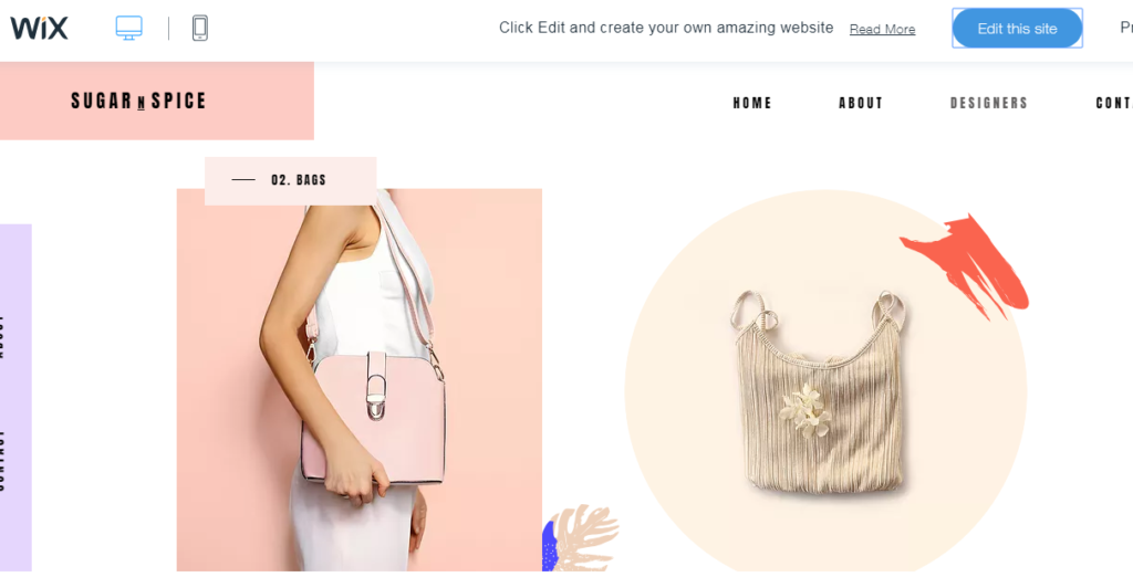 wix pop up fashion template